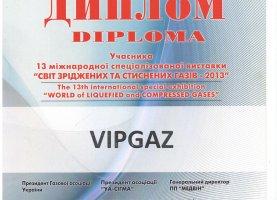 Диплом участника 13 международной выставки