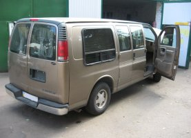 Chevrolet Express Explorer (beige) на газу