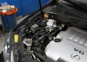 Профессиональное переоборудование Лексус на газ