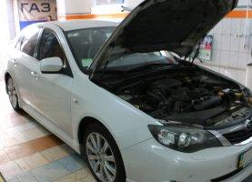 газ на Subaru White