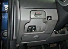Кнопка переключения с газа на бензин на Renault Laguna 2.0T