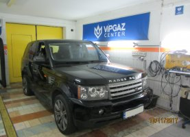 гбо на land Rover Range Rover SuperCharged 4.2
