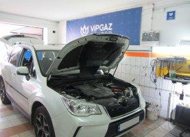 газ на Subaru Forester 2016 год (2.0T прямой впрыск)