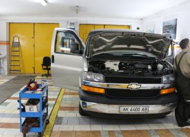 газ на Chevrolet Express Explorer (beige 2)